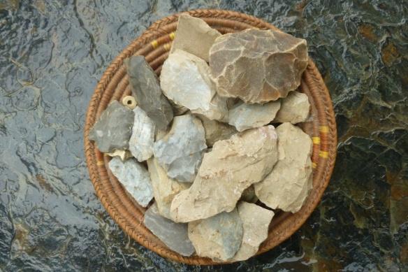 bowl of rocks