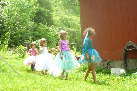 fairies in a line