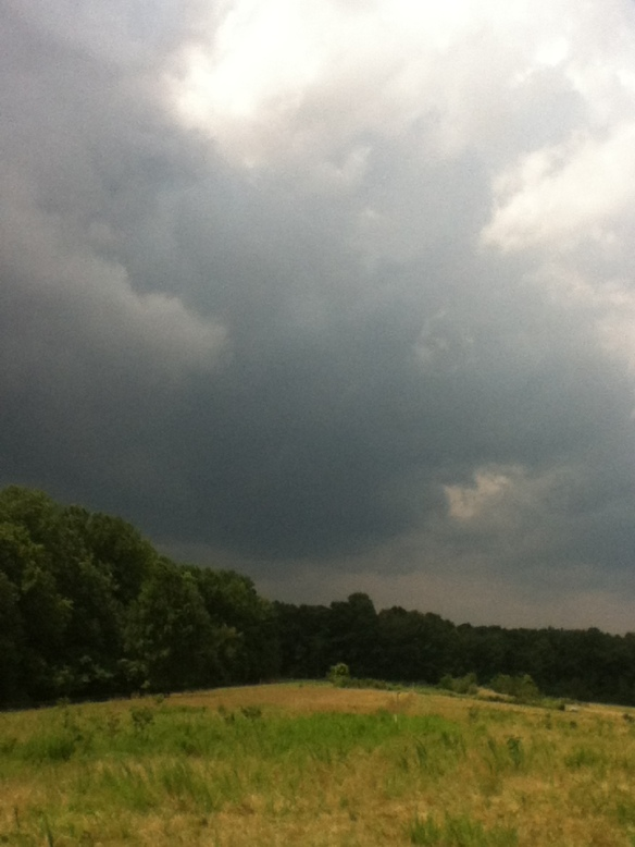 a storm that just missed the farm...