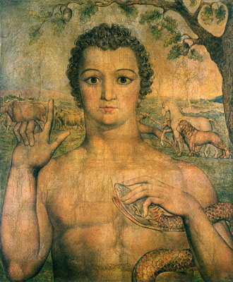 Adam Gives Names For the Animals by William Blake